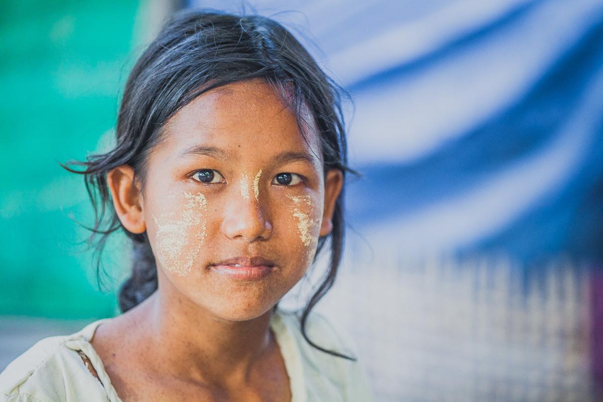madalay fillette vert bleu